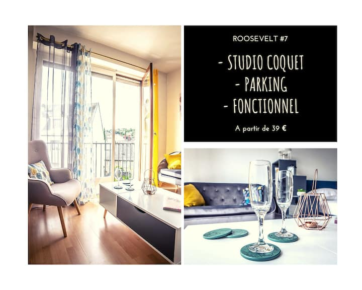 ★ Studio Coquet ★ Fonctionnel ★ Parking
