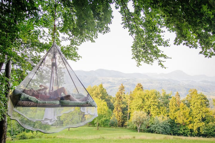Sleeping on tree in touch of nature - Slivna - Baumhaus