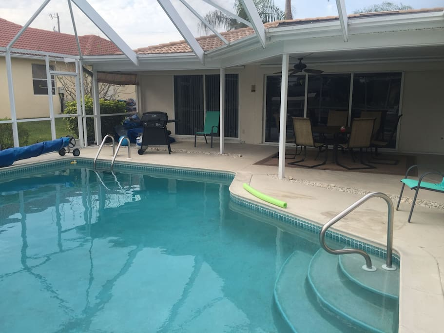large solor heated pool