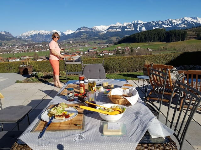 Awesome View and fresh eggs