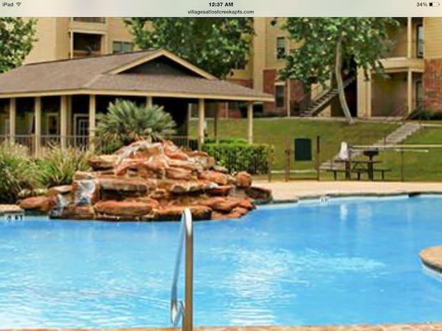 Spacious 1 bdr apt with pool view - San Antonio - Wohnung