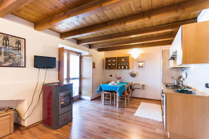 cozy studio apartment in the Alps - Talamona - Lägenhet