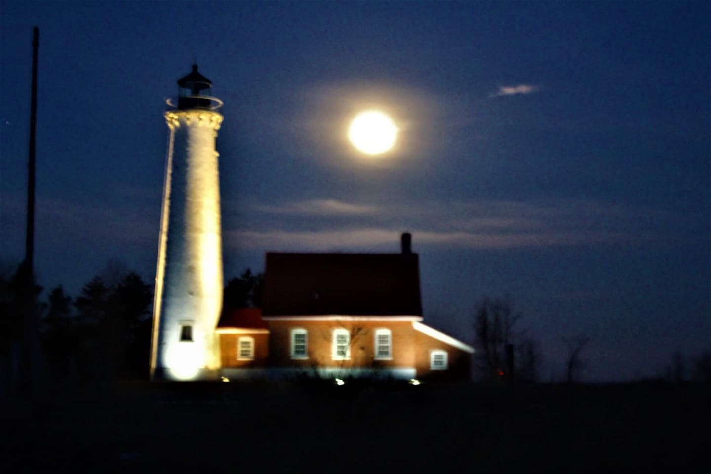 One of Tawas point of interest, Tawas State Park lighthouse.  It's about five miles from Patti's Getaway.