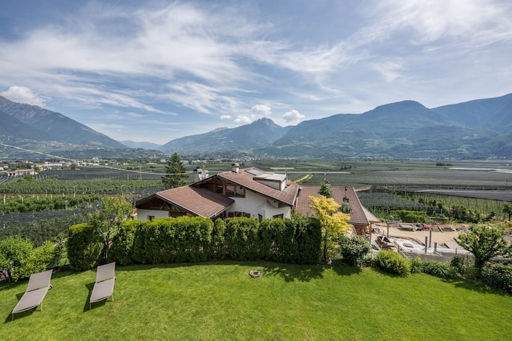 Charming Apartment III in Residence Margreth with Mountain View, Balcony, Garden, Terrace & Wi-Fi; Parking Available; Pets Allowed