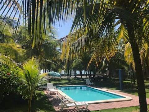 GORGEUS  **BEACH FRONT HOUSE** WITH PRIVATE POOL