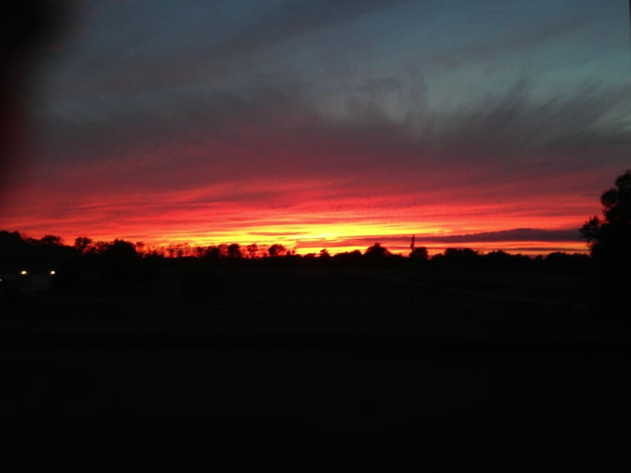 Sunsets from the master bedroom porch are amazing!