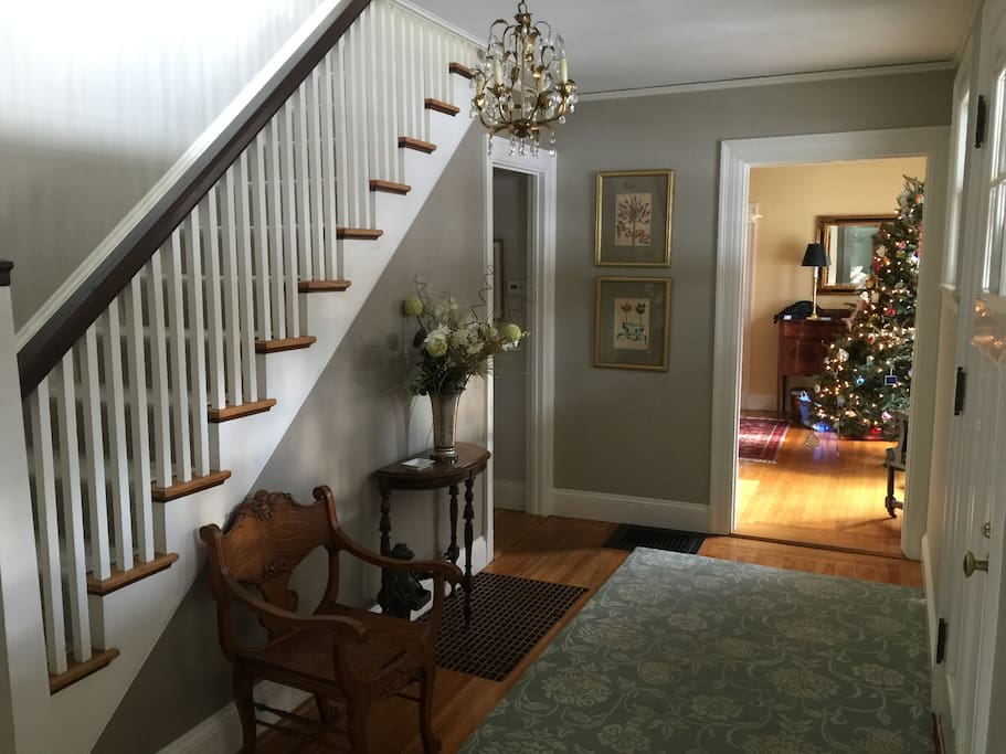 Foyer as you enter this spacious Chestnut Hill home.