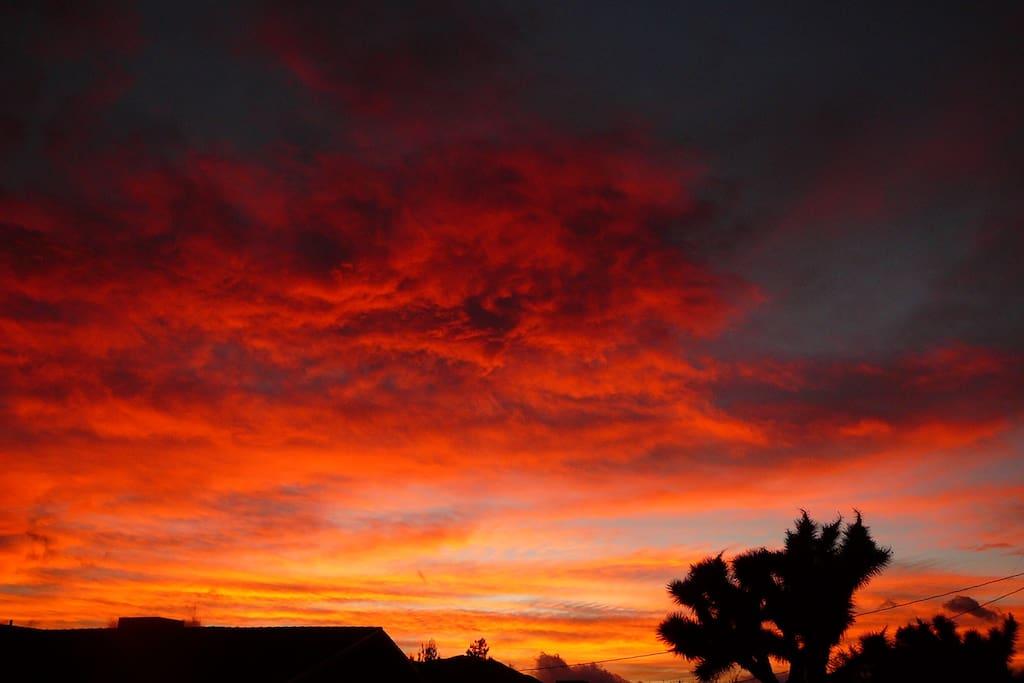 Stunning Sunset from backyard