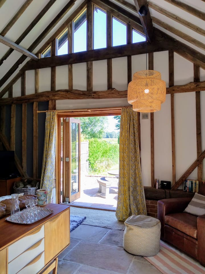 A unique barn in the tranquil Waveney Valley