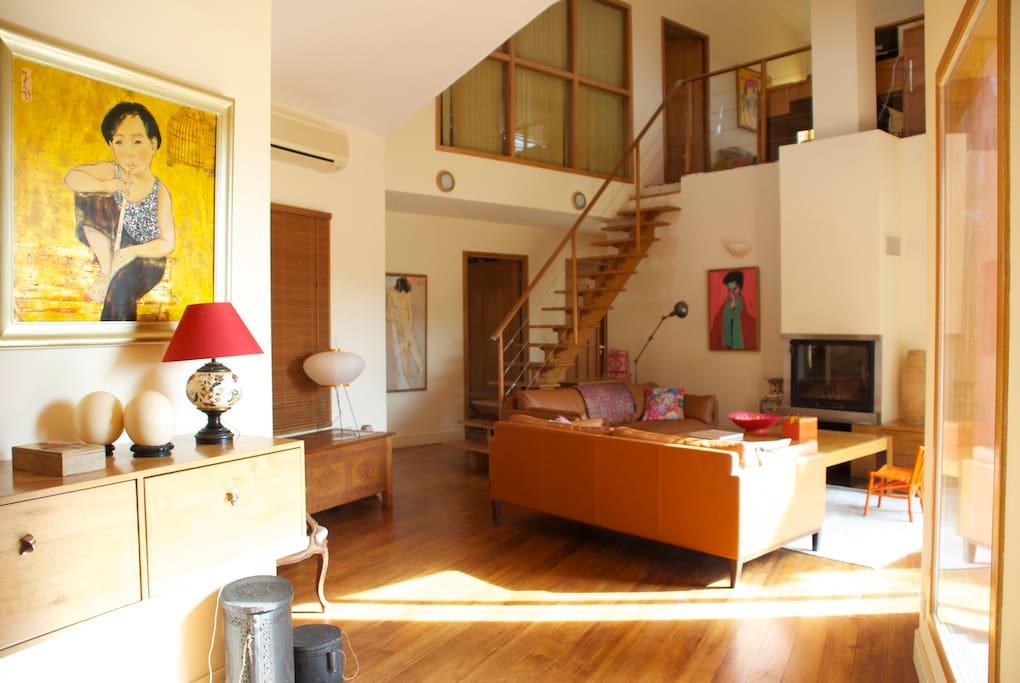 Belle villa dans un ecrin de verdur maisons louer porto vecchio corse france La cloison magnifique le coin salon