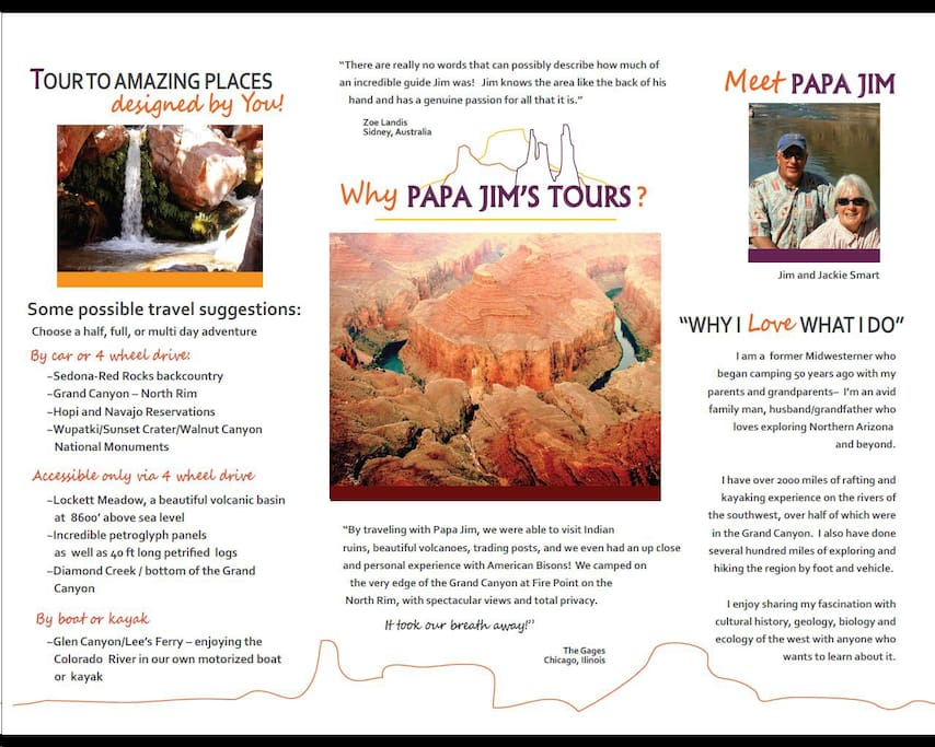 My tour brochure