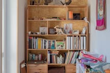 library, cabinet, stylish and chidren zone on the 2nd floor, available for your use