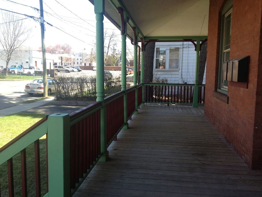 The first 50 feet of the wrap around porch