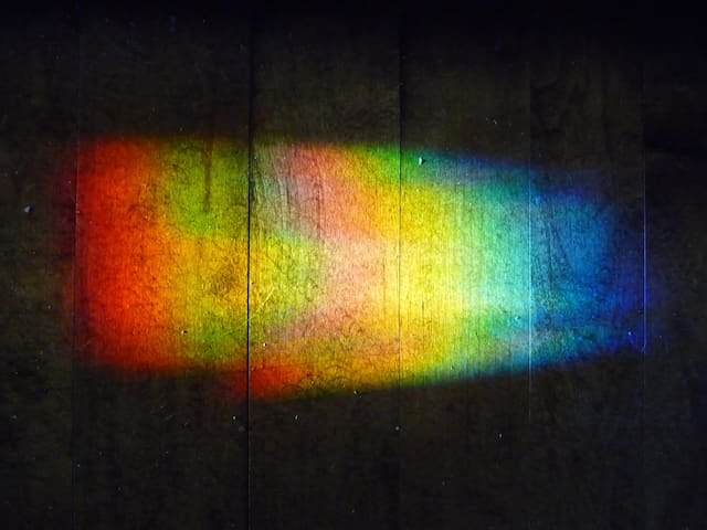 Rainbows spill across the floor at Casa Avery...