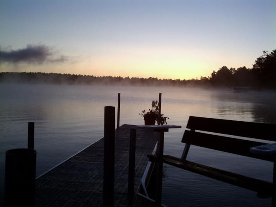 Enjoy sitting on the dock and watching sunrise