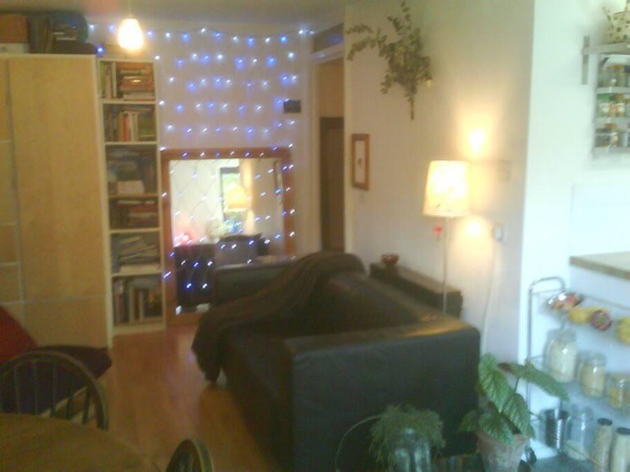 Livingroom as seen from the patio doors