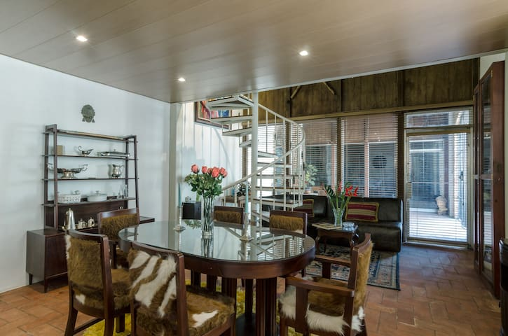Dinning table and living area