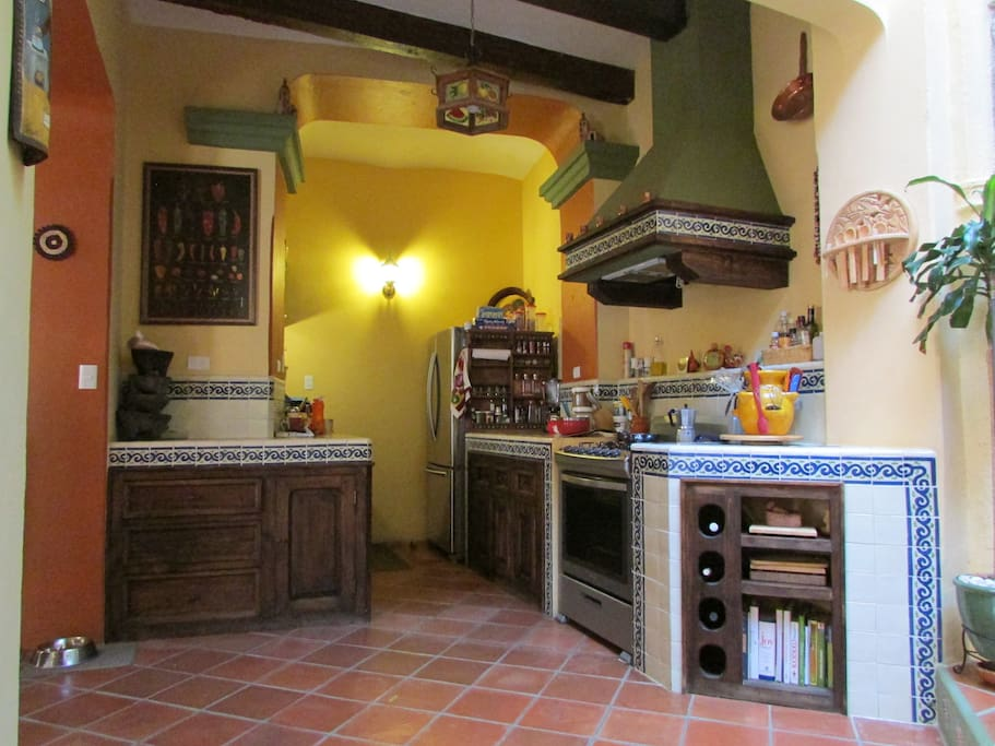 Traditional Mexican kitchen.