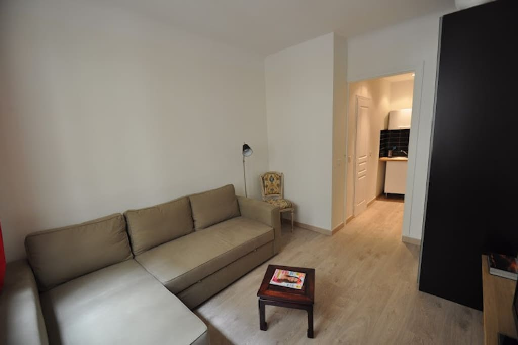 Salon avec canapé lit - Lounge with sofa bed