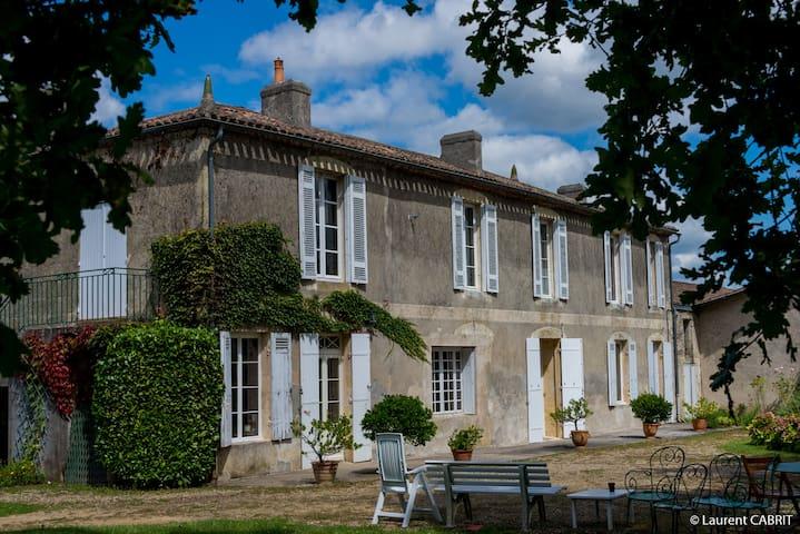 Grande Maison Calme proche Bordeaux - Langoiran - Casa