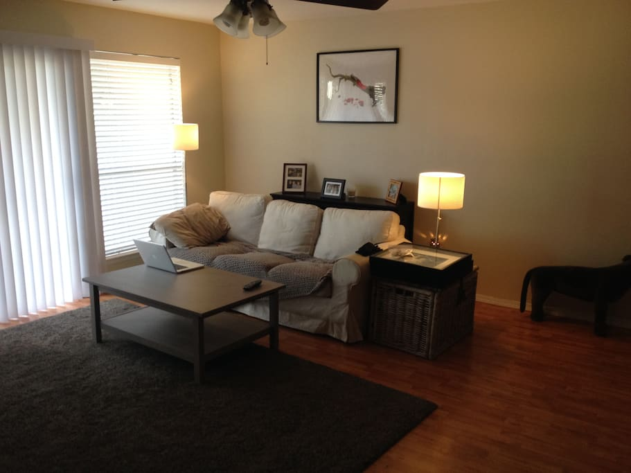 Living/TV room, adjacent outdoor private patio