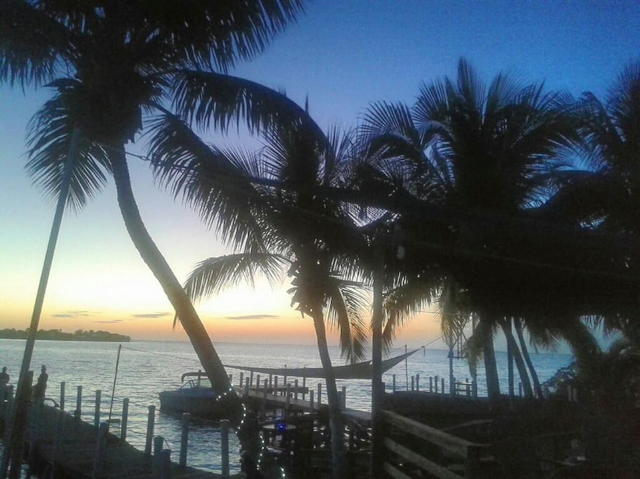 Unforgettable sunsets from our dock