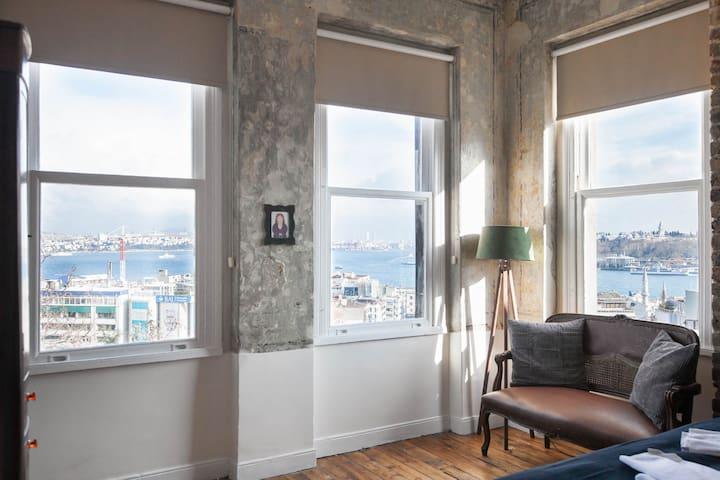 ★HUGE Galata Flat ★ W/Seaview★4BR★ - İstanbul - Apartment