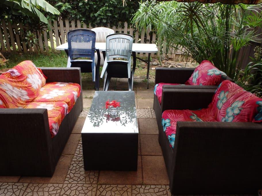 Salon extérieur - Outside lounge