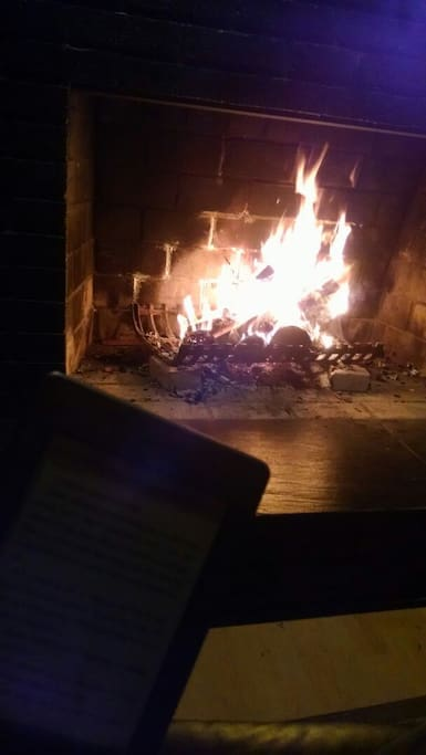 Indoor (and outdoor not pictured) fireplace
