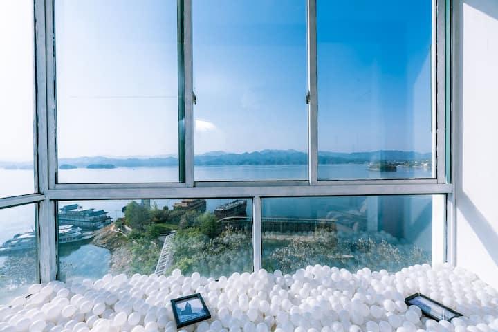 【千屿千寻】270度湖景网红秋千/海洋球/近码头/毗邻鱼街大床房/807
