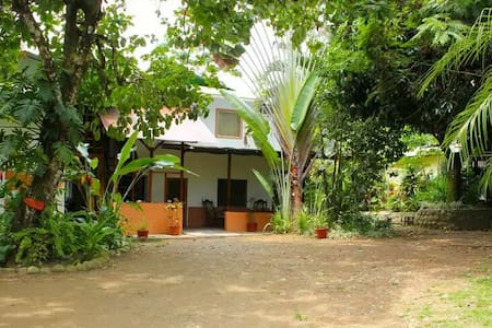 Located in the center of the village, few steps away from the beach/pointbreak. All services that Pavones offer are walking distance. Very friendly and clean