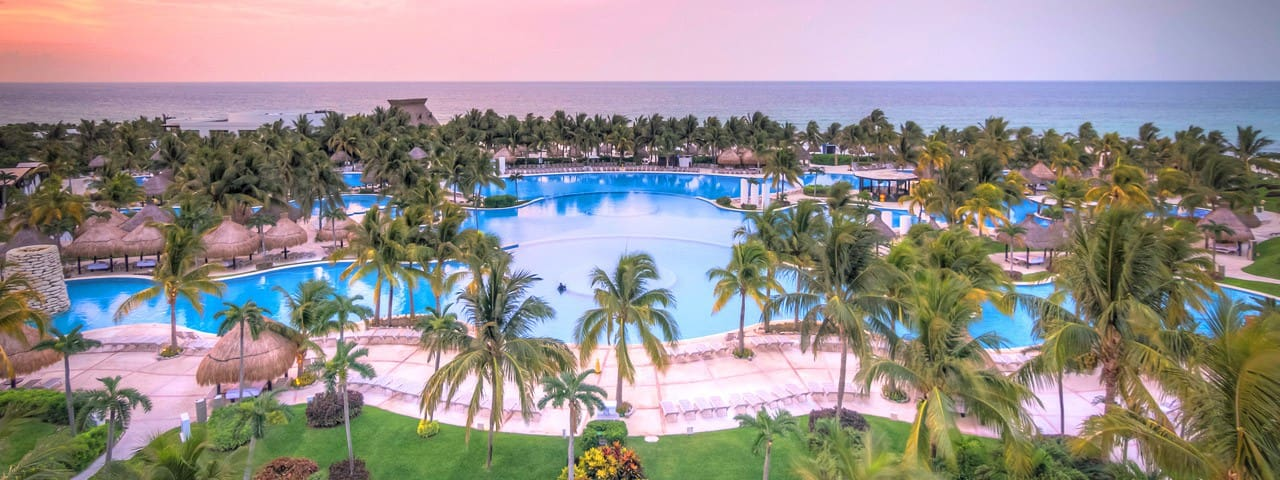Beautiful Pool and Grounds at Riviera Maya
