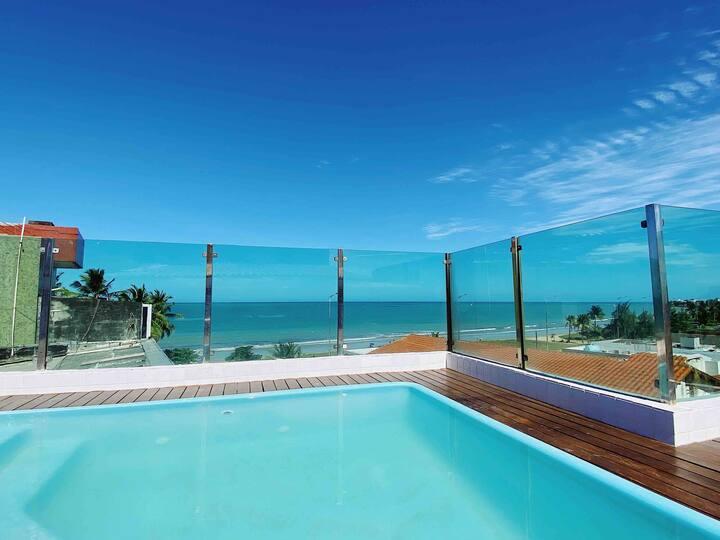Apartamento Bessa Vista incrível - Frente mar!