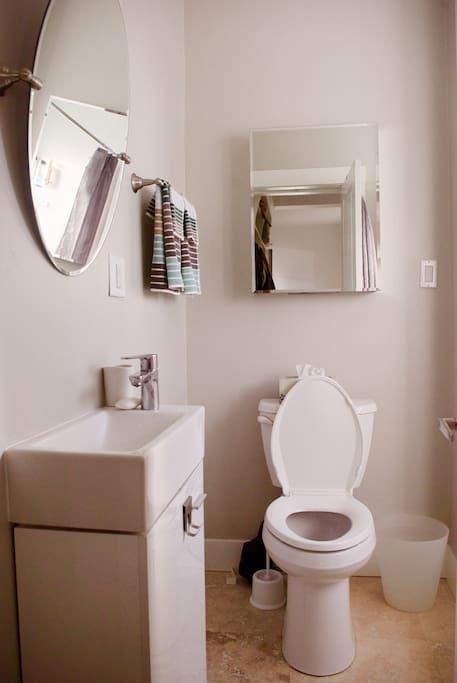 Full access to bathroom on the main floor.