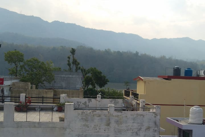 View from terrace- Hills and river