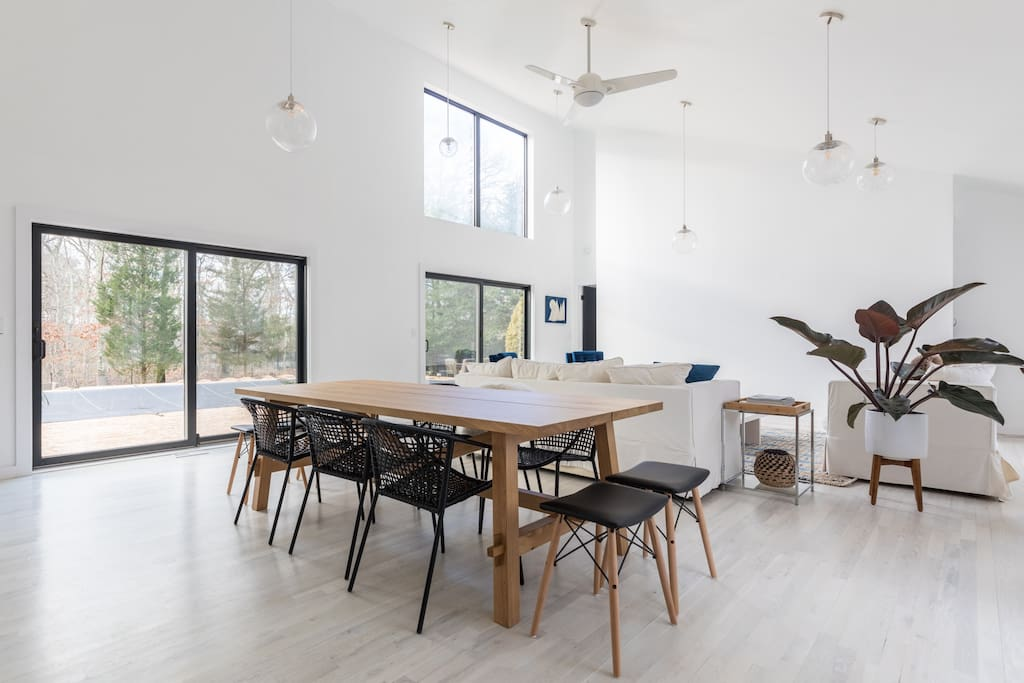 Light filled open living space