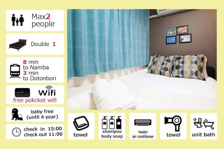Special Discount Prise!!!★ Dotonbori ★2F03 - Ōsaka-shi - Apartment
