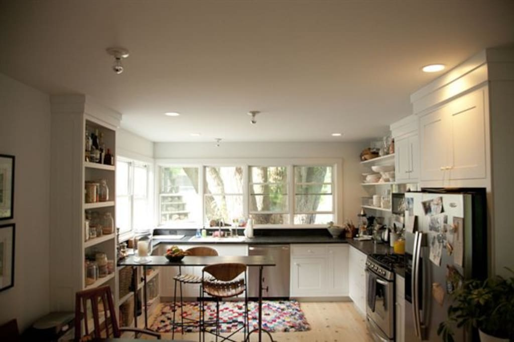 Bright airy newly remodeled kitchen.