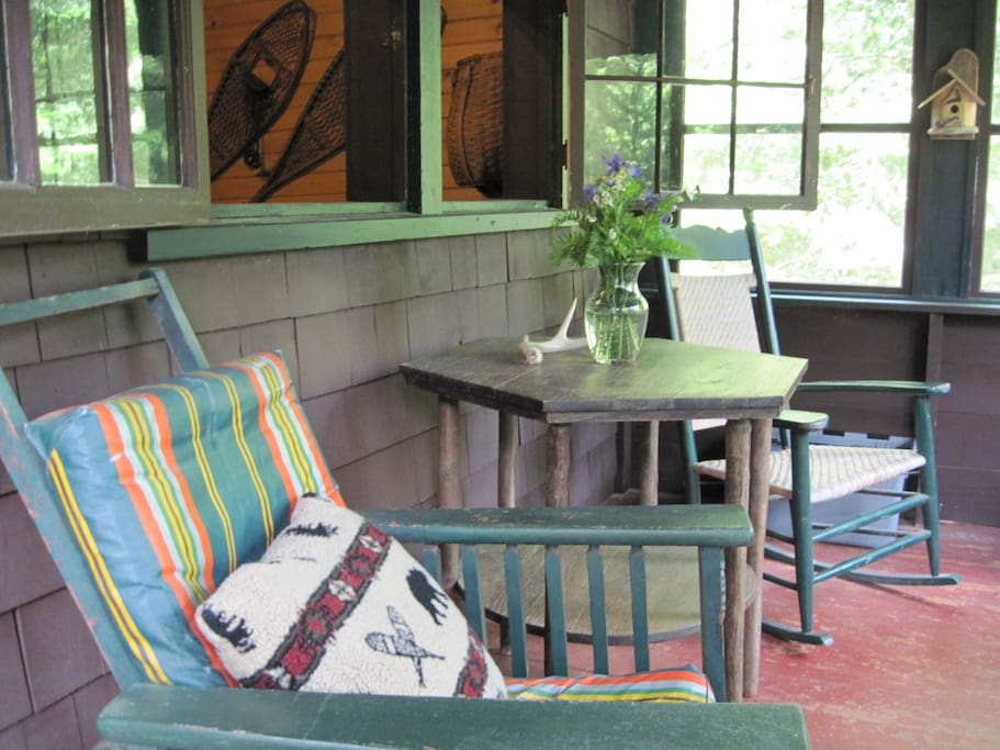 Front screened in porch, perfect for reading a book