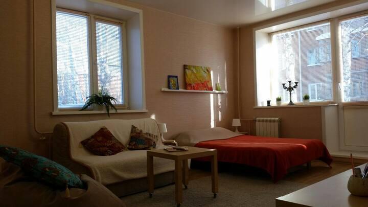 Уютная квартира в центре Академгородка