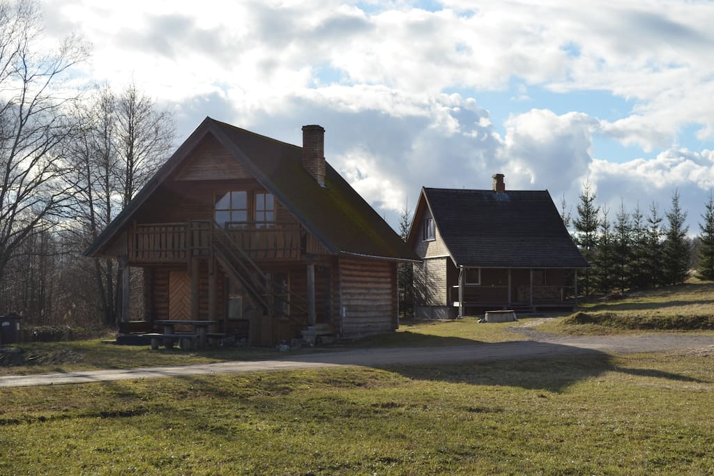 Sauna and the Guesthouse. For those who like hot environment...