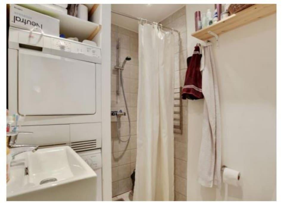 The bath/toilet