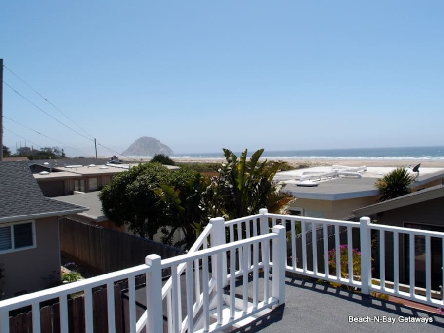 You can see from Morro Rock to Cayucos from the rooftop deck.