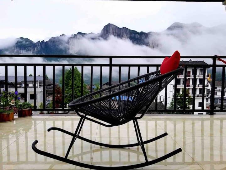 恩施大峡谷山景亲子房•躺在床上峡谷景尽收眼底•私人管家•免费接送!