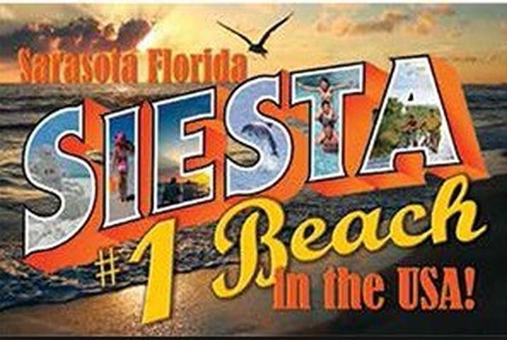 Best location on Siesta Key, with the # 1 beach in the USA right in your back yard! Walking distance to all amenities, but far enough for peace and quiet.
