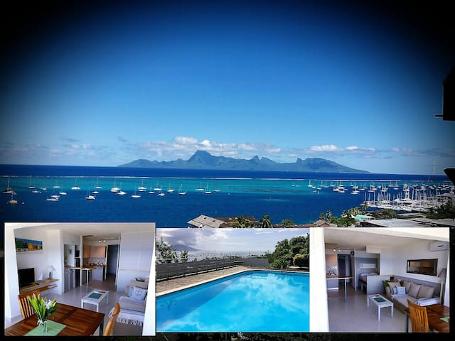 Stopover in Lotus-exceptional view - Punaauia - Apartment