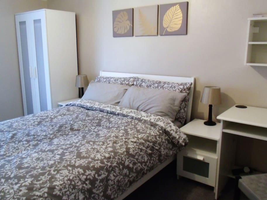 Room nr 2 with standard double bed and additional toddler bed if needed