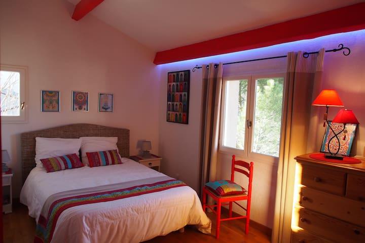 Chambre double- sdb privée, piscine - Saint-Rome-de-Tarn - Talo