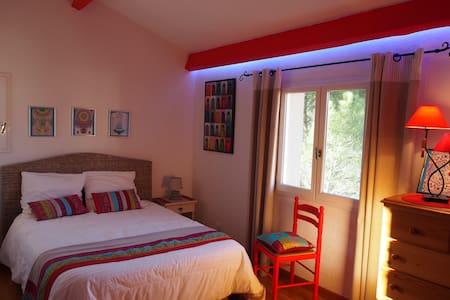 Chambre double- sdb privée, piscine - Saint-Rome-de-Tarn - Huis