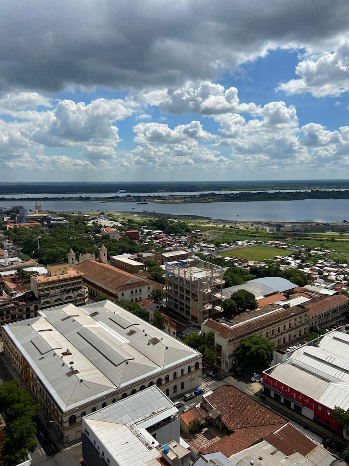 Bay view great Apt in Downtown Asuncion